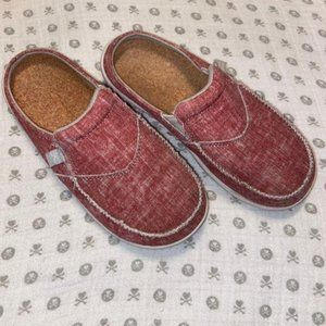 Women's Spenco Red Slide-On Shoes Size 5